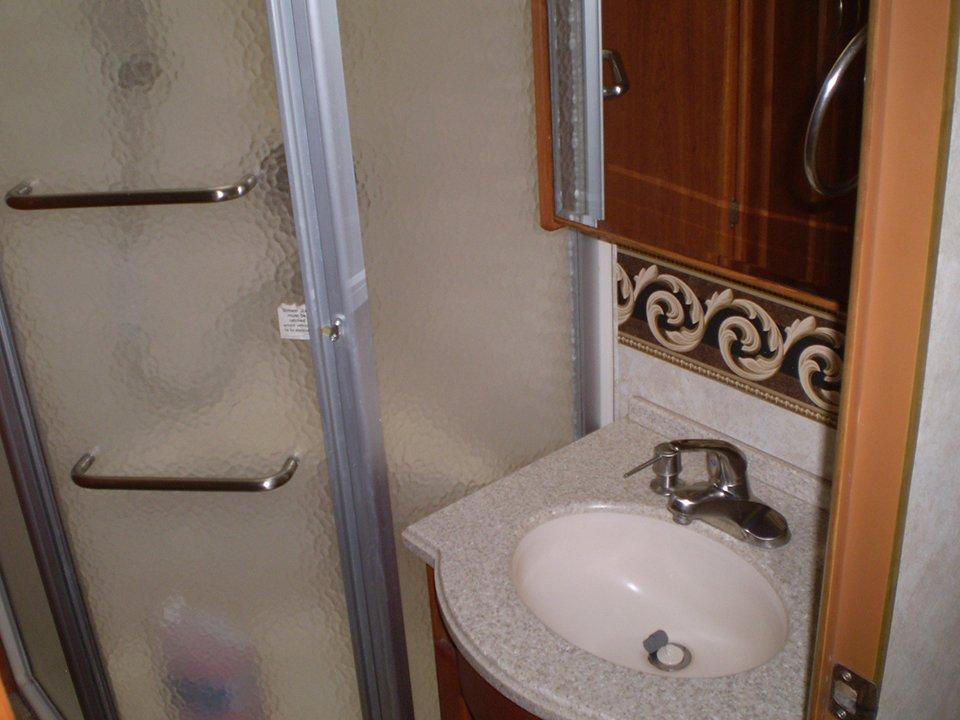 2007 Monaco Rambler-Interior Shower-Sink Area