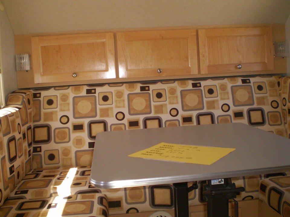 2008 Tab Trailer Sitting Area & Rear Cupboards